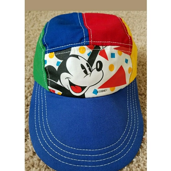 9125df6a8a10b Accessories - Vintage Mickey Mouse Hat Walt Disney Colorful